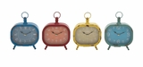 The Rectangular Metal Desk Clock 4 Assorted by Woodland Import
