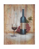 The Red Wine Canvas Art by Woodland Import