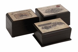 The Royal Wood Label Box 3 Assorted by Woodland Import