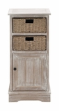 The Rural Wood 2 Basket Cabinet by Woodland Import