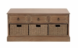 The Rural Wood 3 Basket Chest by Woodland Import