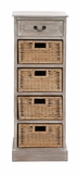 The Rustic Wood 4 Basket Chest by Woodland Import