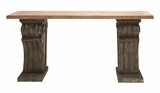 The Rustic Wood Console Table by Woodland Import