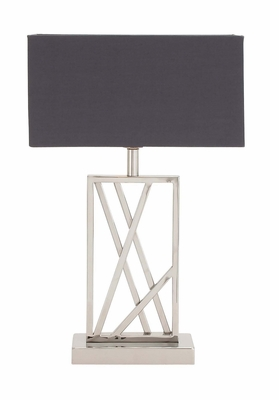 The Sharp Stainless Steel Table Lamp by Woodland Import