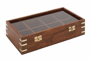 The Simple But Lovely Wood Glass Box - 19012 by Benzara