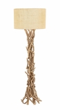 The Simple Driftwood Metal Floor Lamp by Woodland Import