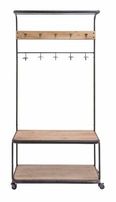 The Simple Metal Wood Clothes Rack by Woodland Import
