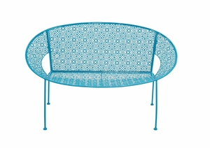 The Sky Metal Blue Garden Bench by Woodland Import