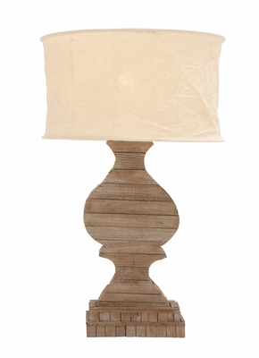 The Soothing Wood Table Lamp by Woodland Import