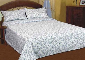 The Spring Bouquet Handmade Quilt Set with a beautiful floral pattern queen size Brand American Hometex