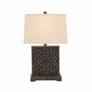 The Square Wood Table Lamp by Woodland Import