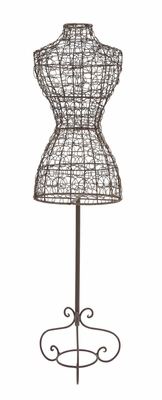 The Statuesque Metal Clothes Mannequin by Woodland Import