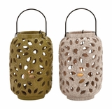 The Stunning Ceramic Lantern 2 Assorted by Woodland Import