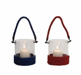 The Stunning Glass Rope Lantern 2 Assorted by Woodland Import