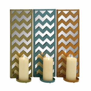 The Stunning Metal Mirror Candle Sconce 3 Assorted by Woodland Import