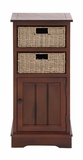 The Stunning Wood 2 Basket Cabinet by Woodland Import