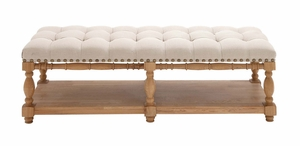 The Stunning Wood Fabric Bench by Woodland Import