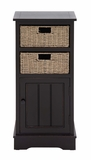 The Stylish Wood 2 Basket Cabinet by Woodland Import
