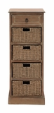 The Tall Wood Basket Accent Chest by Woodland Import