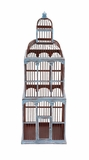 The Tall Wood Birdcage by Woodland Import