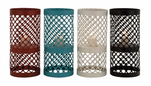 The Timeless Metal Candle Holder 4 Assorted by Woodland Import