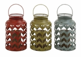 The Timeless Metal Candle Lantern 3 Assorted by Woodland Import