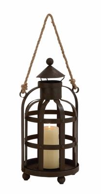The Timeless Metal Rope Candle Holder by Woodland Import