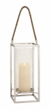 The Timeless Stainless Steel Glass Lantern by Woodland Import