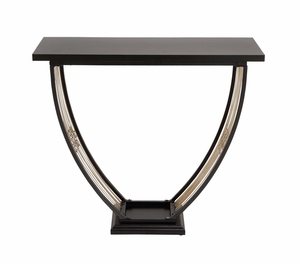 The Trophy Metal Wood Console Table by Woodland Import