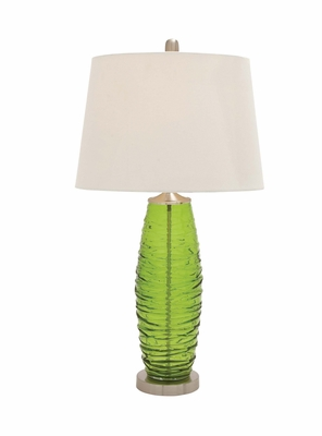 The Ultra Cool Glass Metal Table Lamp by Woodland Import