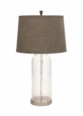 The Unique Glass Metal Table Lamp by Woodland Import
