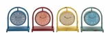 The Unique Metal Desk Clock 4 Assorted by Woodland Import