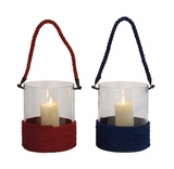 The Unrivalled Glass Rope Lantern 2 Assorted by Woodland Import