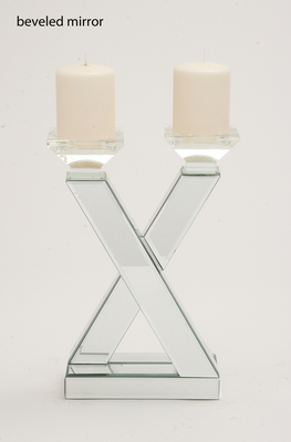 The Very Cool Wood Mirror Candle Holder by Woodland Import