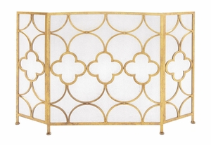 The Yellow Metal Fireplace Screen by Woodland Import
