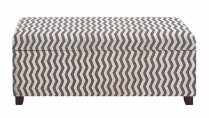 The Zebra Wood Fabric Strong Bench - 56612 by Benzara