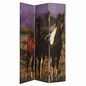 Thouroghbred 3 Panel Screen Designed with Animal Design Brand Screen Gem