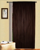 "Thread Curtain Black 55"" Wide X 84"" Long: Adds Depth To Room Decor Brand Kashi"