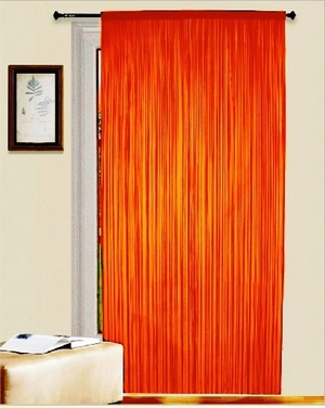 "Thread Curtain Orange 55"" Wide X 84"" Long Brand Kashi"