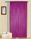 "Thread Curtain Purple 55"" W X 84"" Long: Furnishing With Romantic Flavor Brand Kashi"