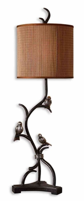 Three Little Birds Buffet Lamp with Detailing in Silver Brand Uttermost