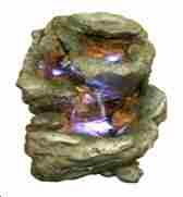 Three Tier Stone Waterfall Table Fountain With Erosion And Moss Details Brand Domani