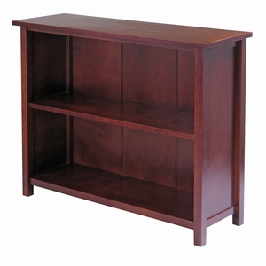 Three Tier Wooden Milan Long Storage Shelf by Winsome Woods