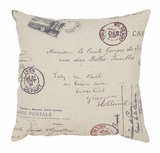 Throw Pillow Decorative Pillow Features the Postcard Design Brand Woodland
