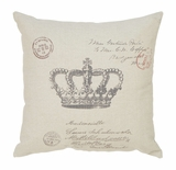Throw Pillow Decorative Pillow of Crown Jewel Icon Design Brand Woodland