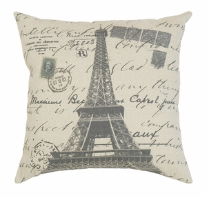 Throw Pillow Decorative Pillow of Eiffel Tower Icon Design Brand Woodland