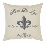 Throw Pillow Decorative Pillow of the Hotel De Lys Icon Design Brand Woodland