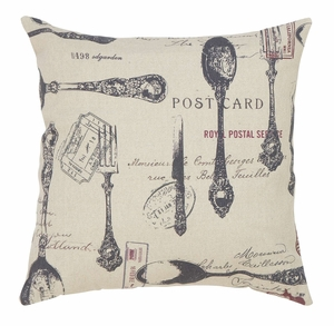 Throw Pillow Decorative Pillow of Utensils Icon Design Brand Woodland