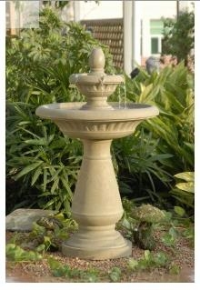 Tiers Outdoor Weather Proof Water Fountain with Two-Tiered Design Brand Zest