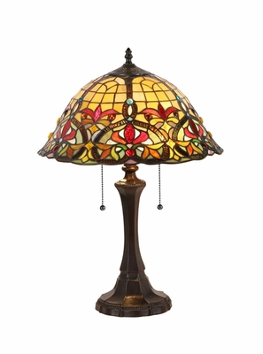 Tiffany Styled Abstract Patterned Fancy Table Lamp by Chloe Lighting